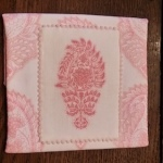 Pink Paisley Stitching Bag