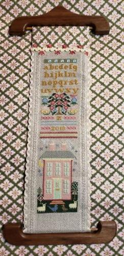 Kit 245 Sampler BellPull on Backing Fabric