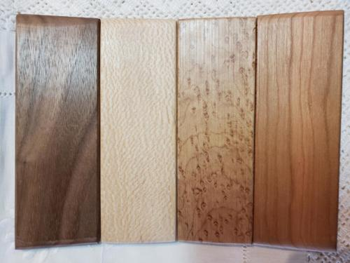 Kit 250 Silks On Board wood blanks four (1)